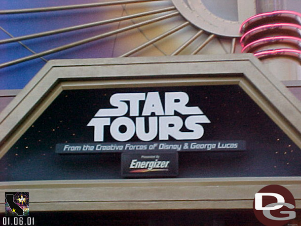 Star Tours Signage (2001-2011)