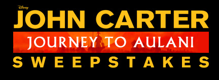 John Carter: Journey to Aulani Sweepstakes