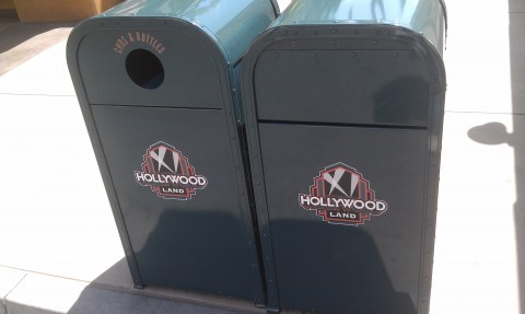 Hollywood Land trashcans now on the Baclot.  Guess the name change is slowly rolling out.