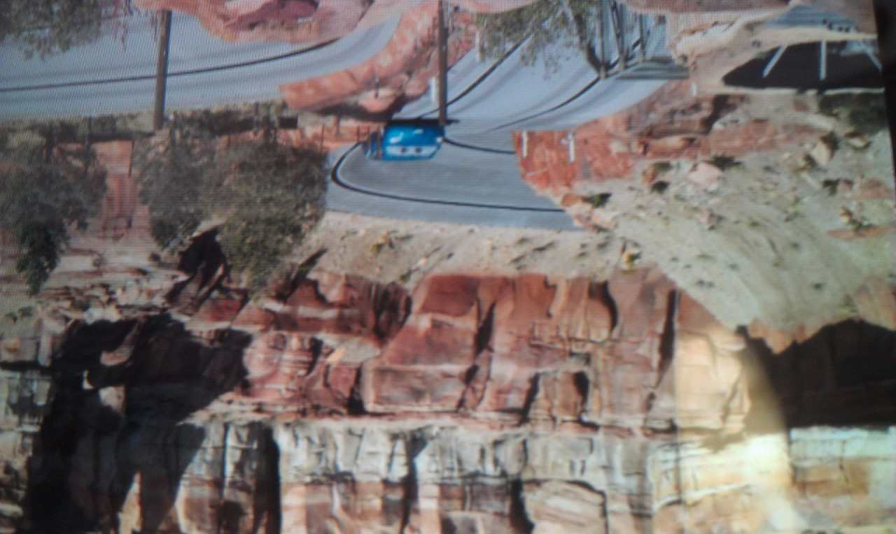 Radiator Springs Racers were cycling this afternoon.