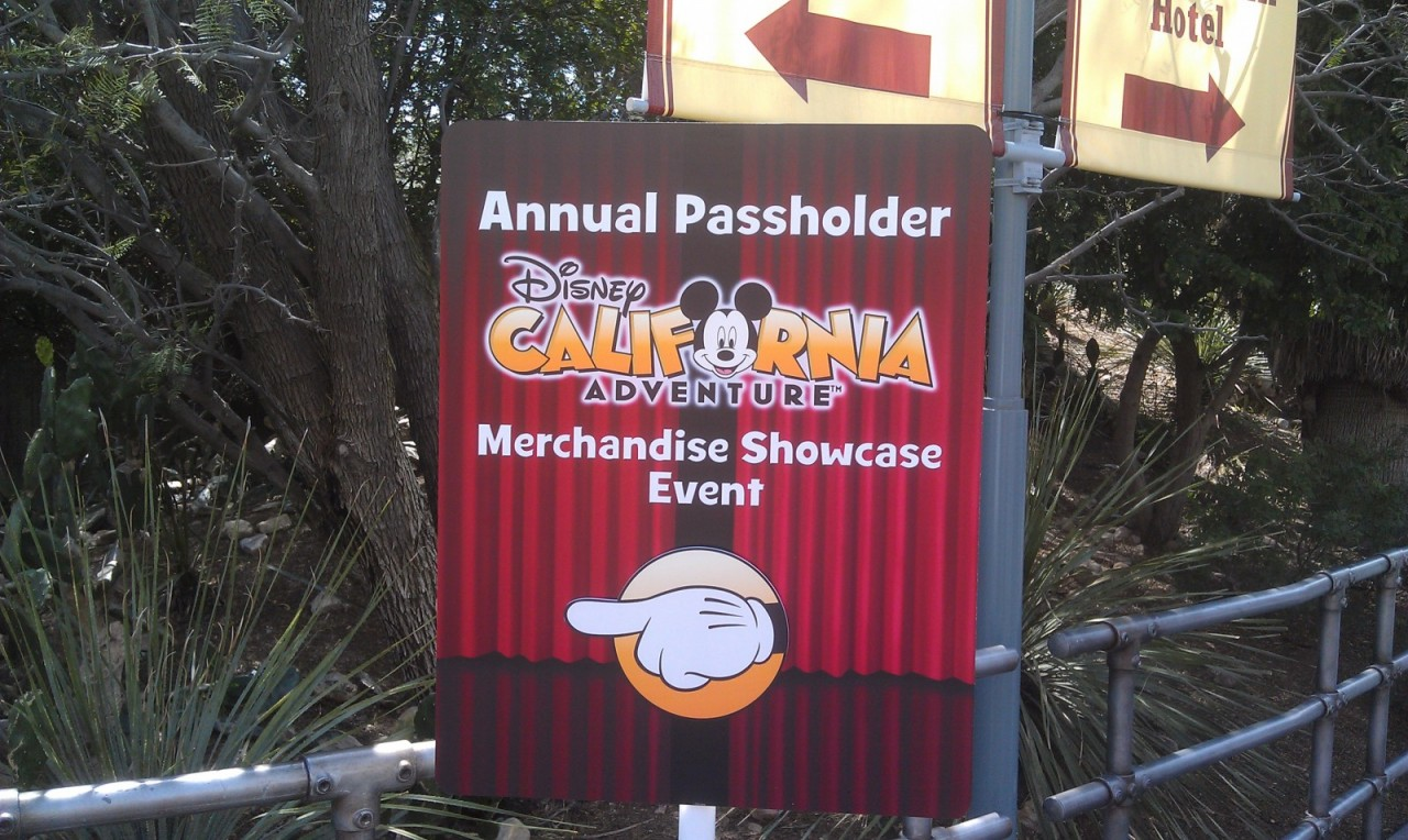 The reason I am here today to check out the Cars Land merchandise preview.