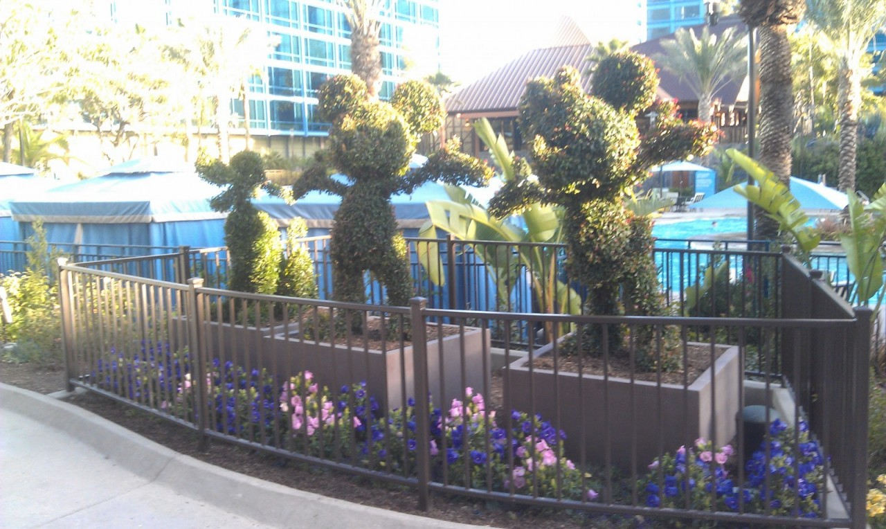 The topiaries have returned at the Disneyland Hotel