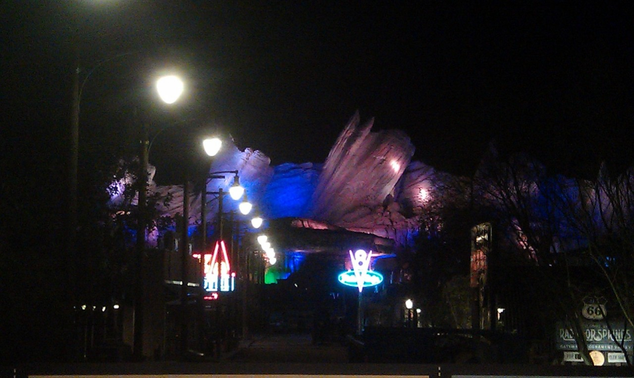 not much happening in Cars Land  tonight.