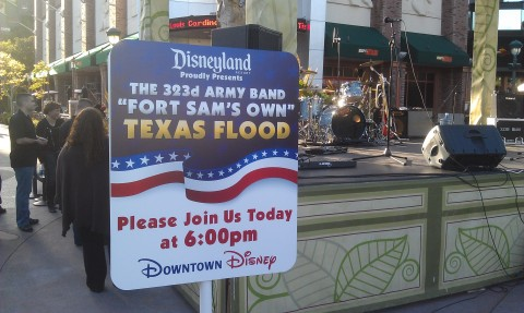 the 323d Army Band Fort Sam's own Texas Flood @ #DowntownDisney starting at 6pm