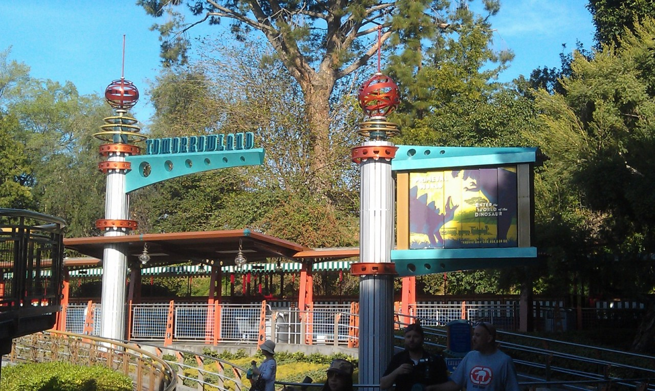 the Tomorrowland train station has reopened.  they just emptied the train thar pulled in.