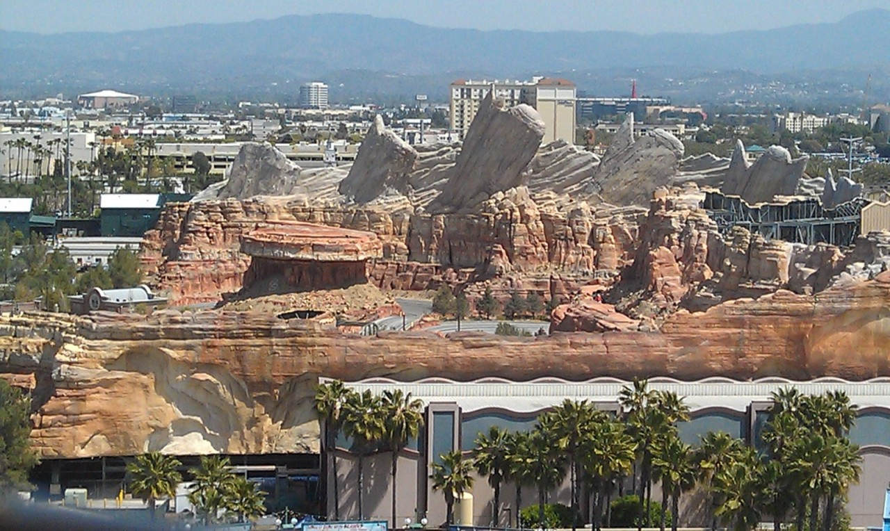 A check in on Cars Land from the Fun Wheel.  Nothing too interesting visible this trip.
