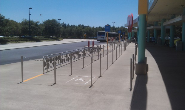 A good sign or bad?  An empty bus stop.   No images from this morning since I was at Blizzard Beach.