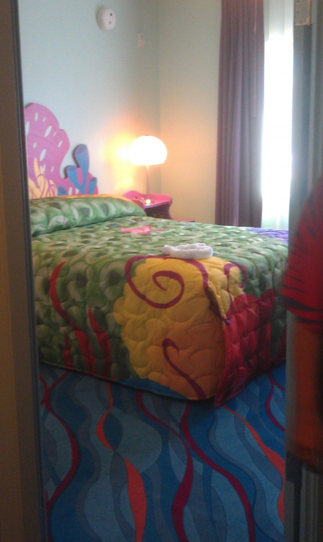 A masterbed room in the Nemo suite