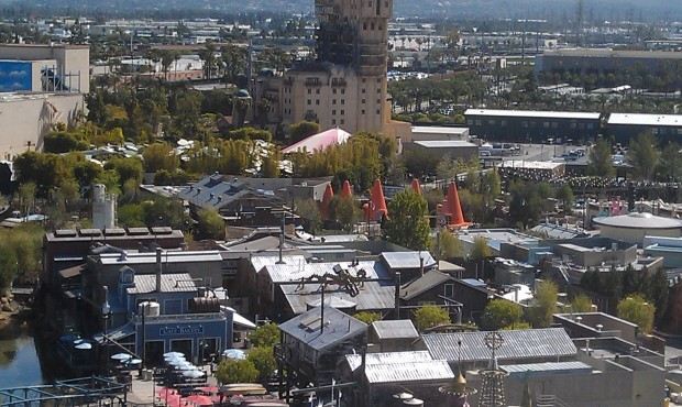 Another shot of Cars Land from the Fun Wheel.