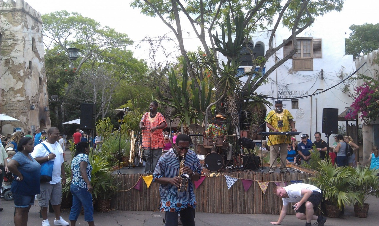 Burudika performing in Africa