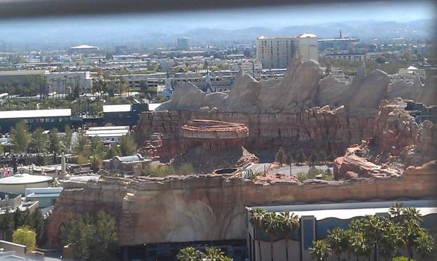Cars Land is quiet this morning.