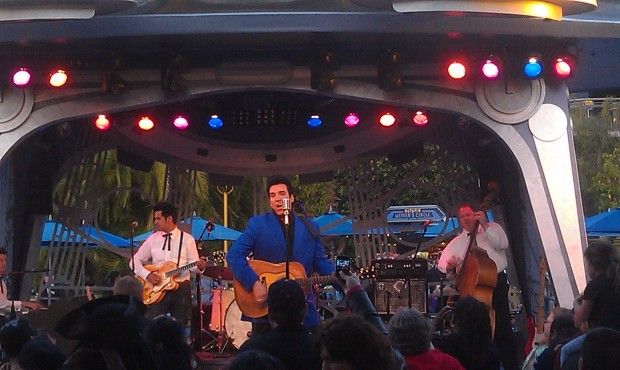 Elvis, Scot Bruce, at the Tomorrowland Terrace this weekend.