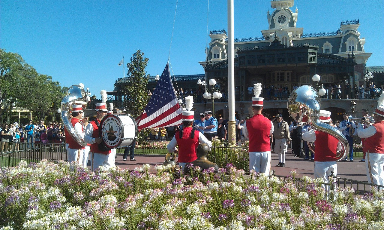 Flag Retreat on Main Street USA