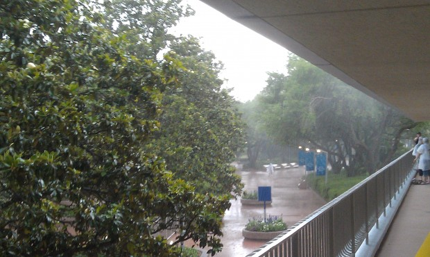 Good old afternoon thunderstorm.  Almost made it to EPCOT...
