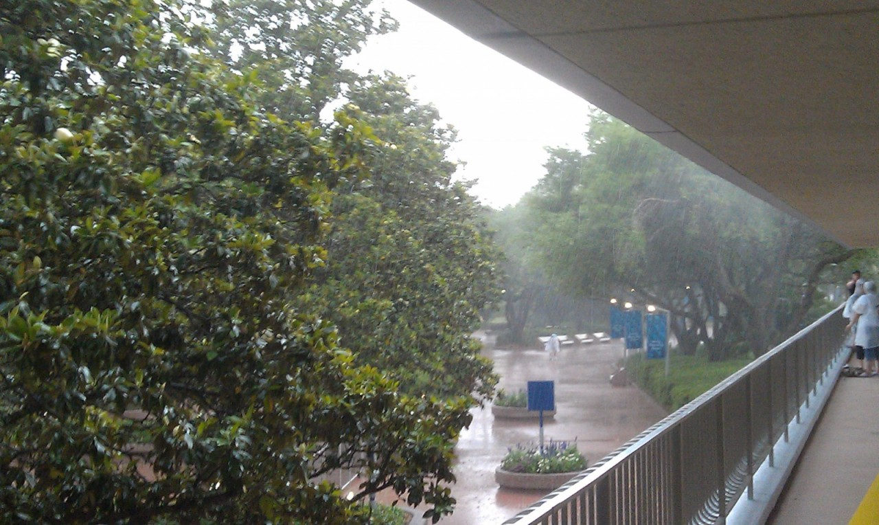 Good old afternoon thunderstorm.  Almost made it to EPCOT…