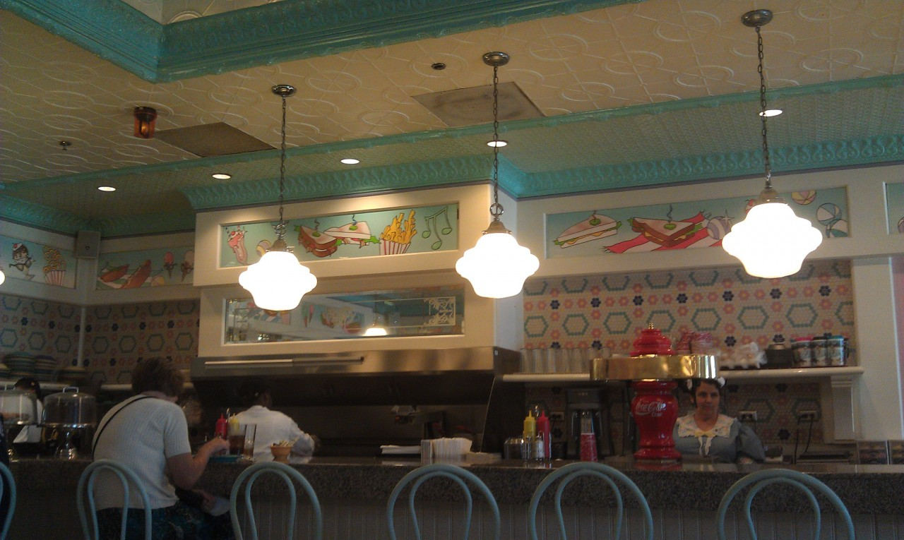 Had a great lunch at Beaches and Cream