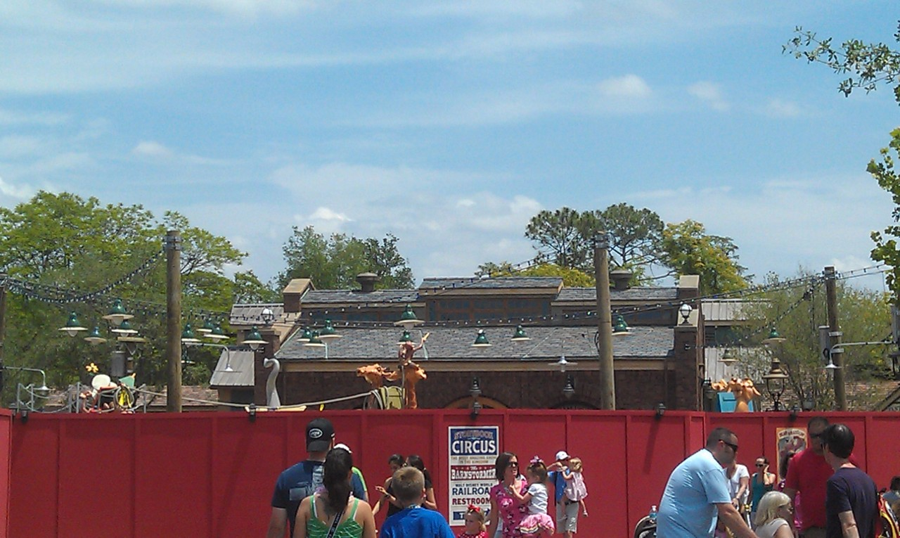 Here you can make out more of Casey Jr in what will be a play area when it opens soon.
