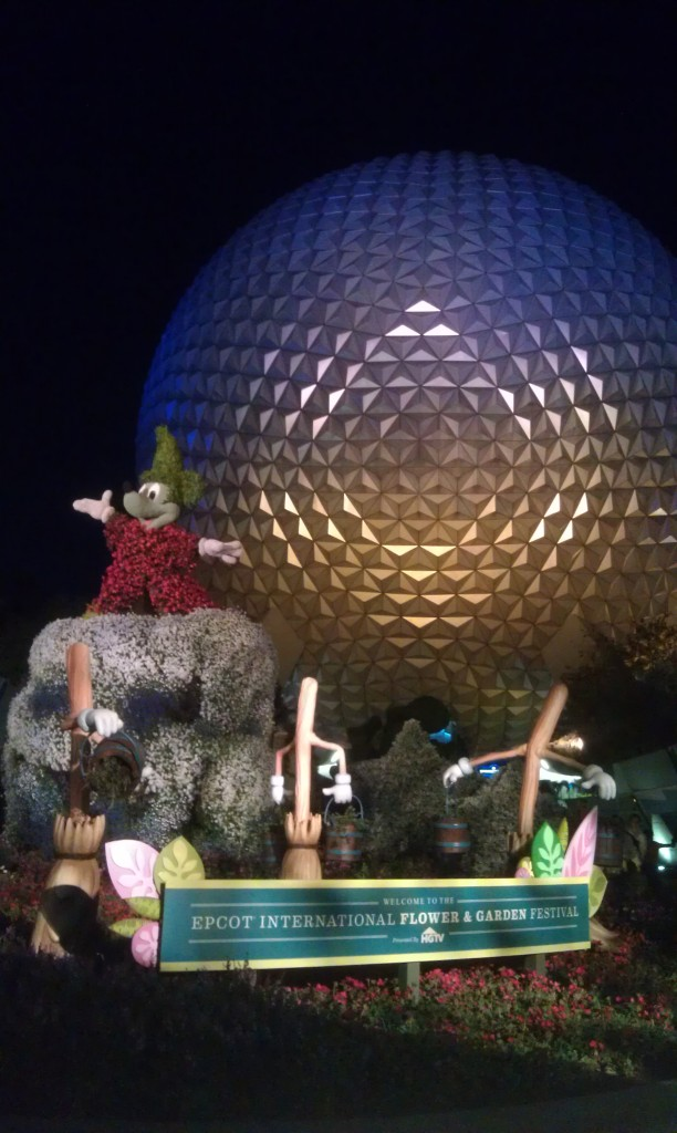 Much better this evening.  Only 25 min from Main Street to Spaceship Earth.