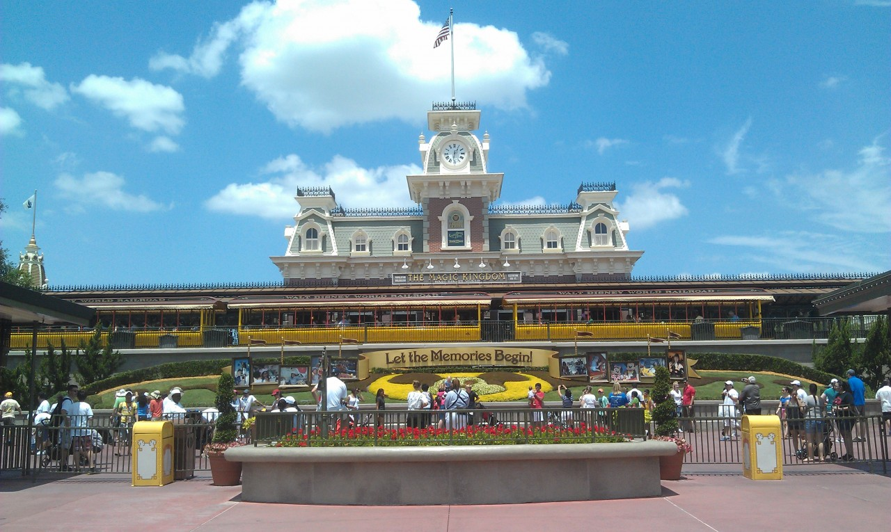 One last look back at the Magic Kingdom before heading out.