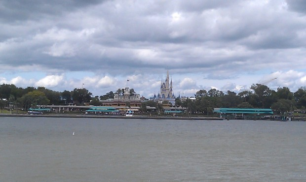 One of my favorite views.  Approaching the Magic Kingdom by ferry.