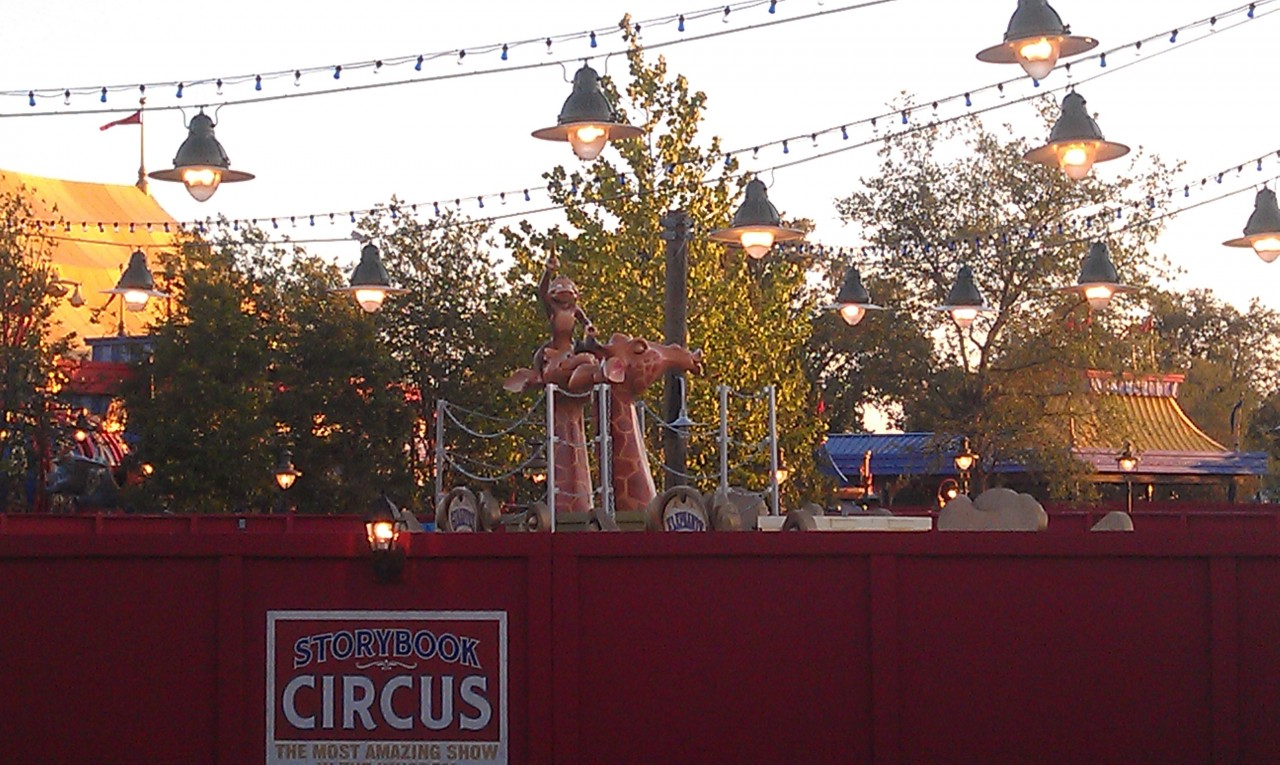 Spotted something new behind the wall in Storybook Circus.  Looks to be Casey Jr for the play area.