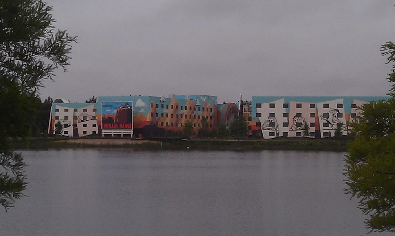 Starting off the morning with a look across the lake at the Art of Animation Resort.
