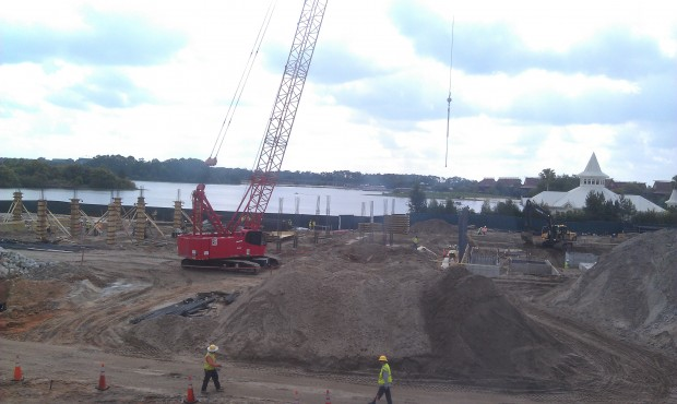 The Grand Floridian DVC project is moving along.  A look from the monorail.