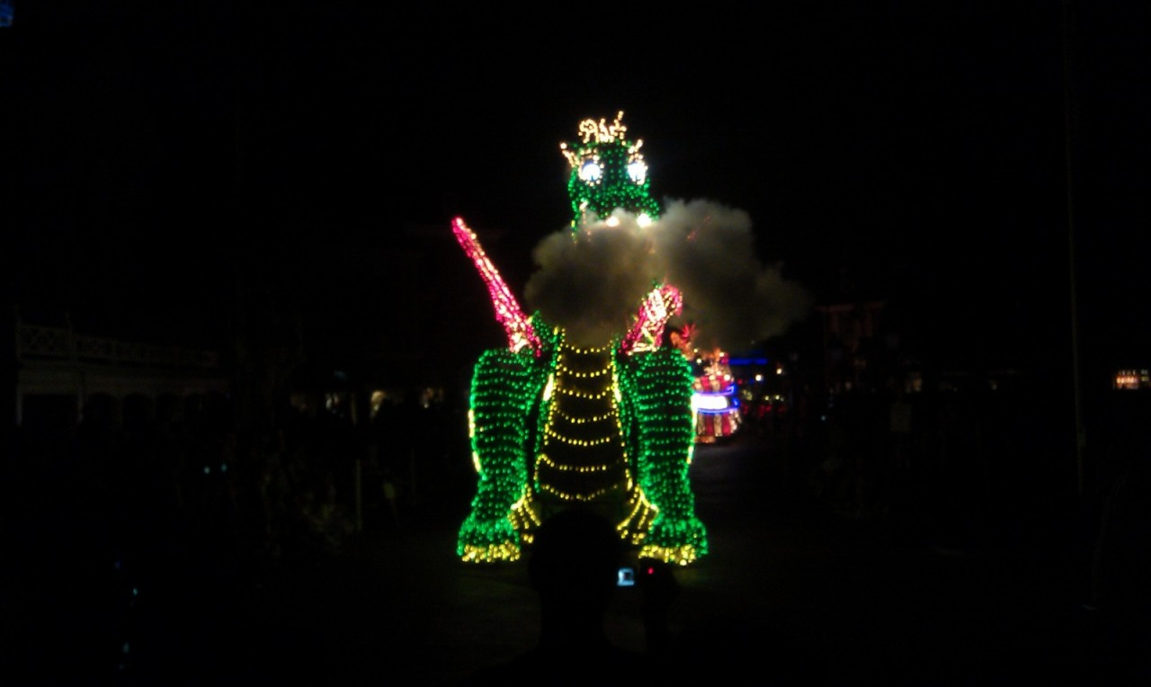 The Main Street Electrical parade wrapping up in Liberty Square