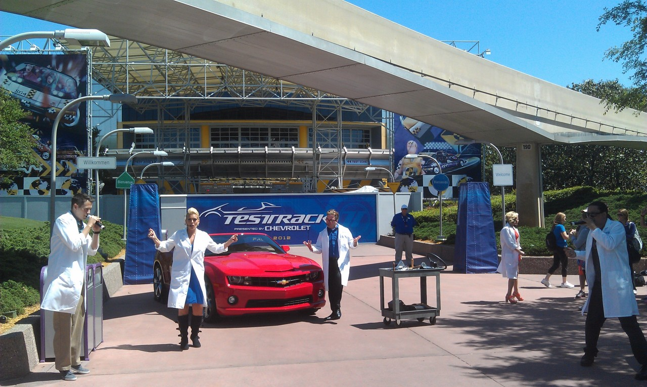 The Test Track All Stars performing.