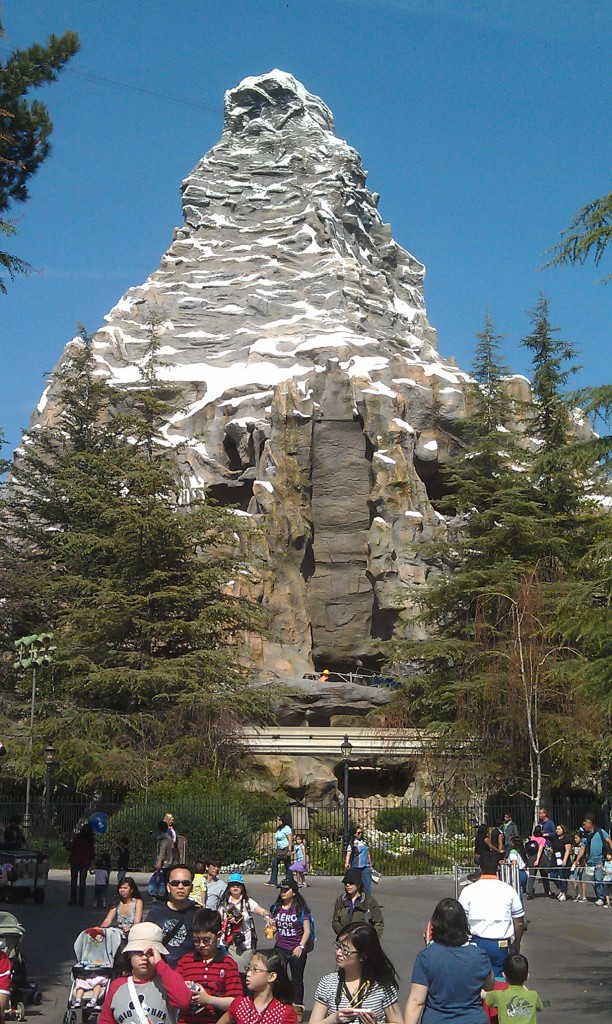 The scaffolding is all removed from this side of the Matterhorn.