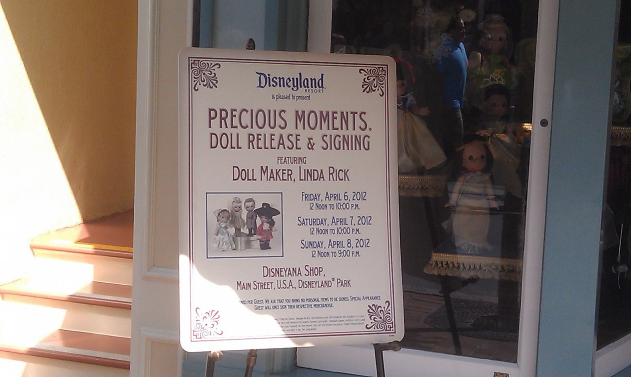 There is a Precious Moments doll release and signing event all weekend at Disneyana