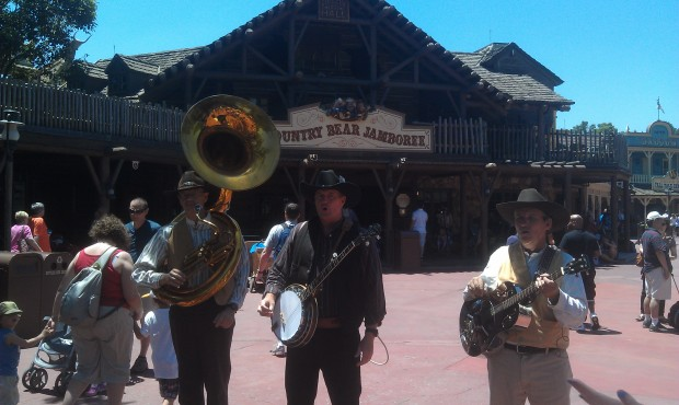 This entertaining group wad performing in front of the Country Bears