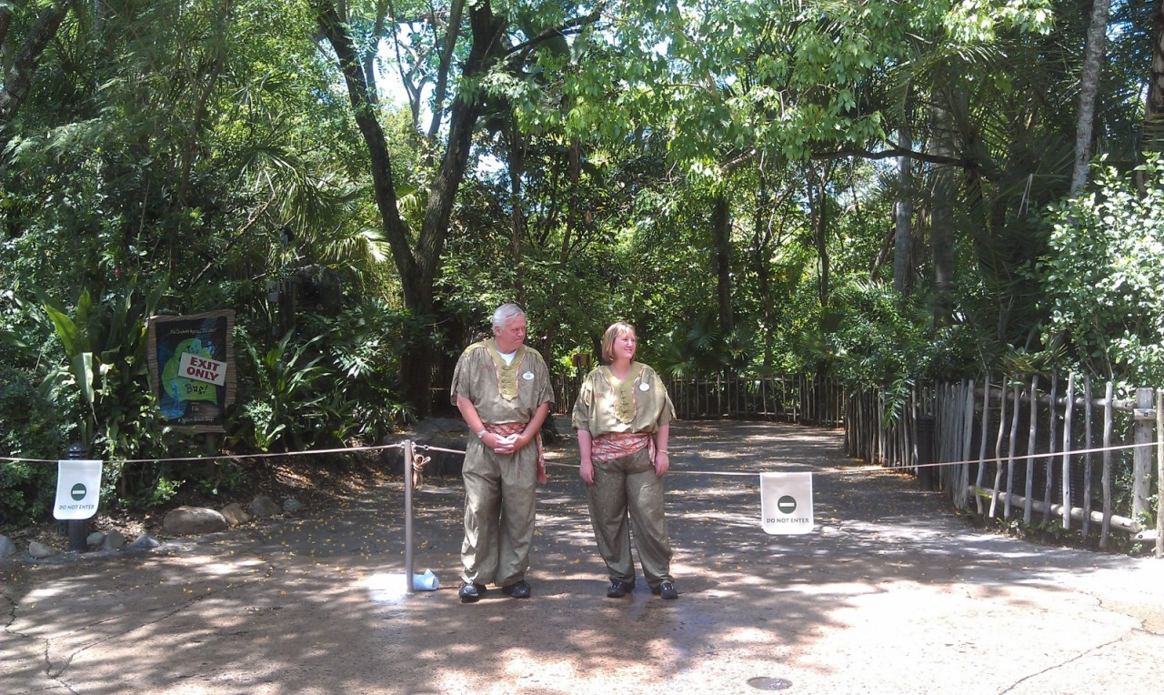 all the trails that run close to the Tree of Life including Tough to Be A Bug walkways have been closed all morning.