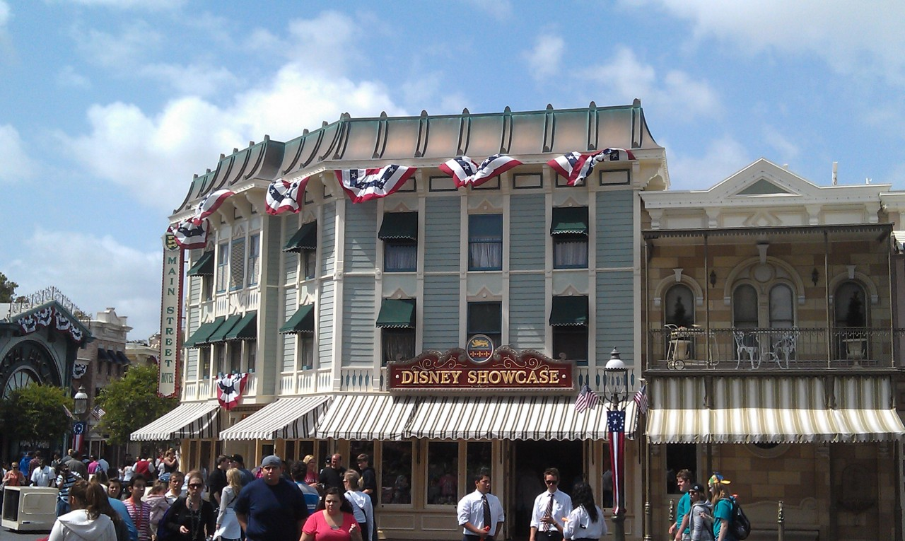 Main Street is decked out in red, white, and blue for thr holiday weekend.