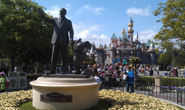 Sleeping Beauty Castle... the sun has come out and it is a great afternoon.