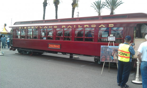 The Lilly Belle is at the Fullerton rail days and open to walk through.