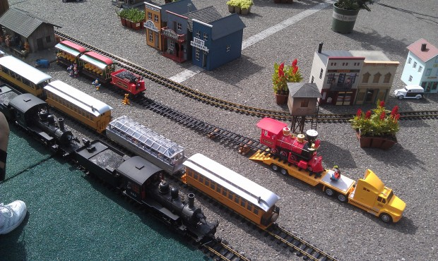 There are also model trains on display some with Disney references