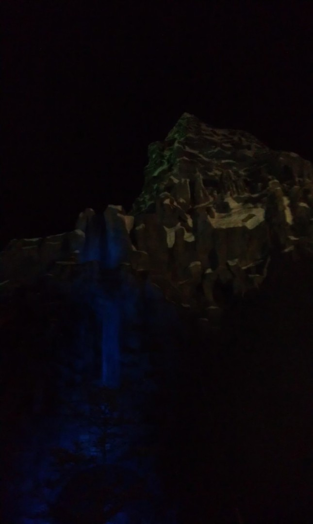 To wrap up the evening a picture of the Matterhorn.  Saturday I will have a full update at http://disneygeek.com