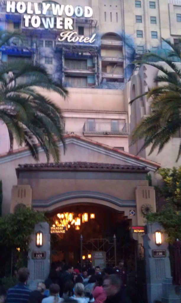 Tower of Terror is 120 minutes. A lot of grad nite kids in line.