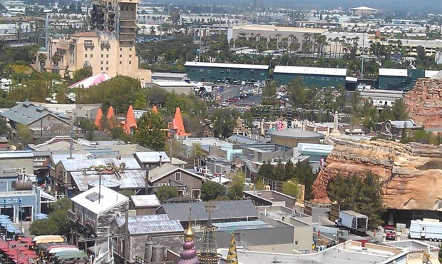 A look at #CarsLand from the Fun Wheel.