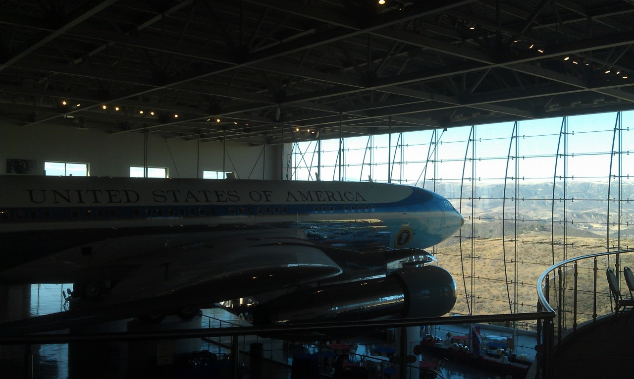 A quick look around the library.  Air Force One