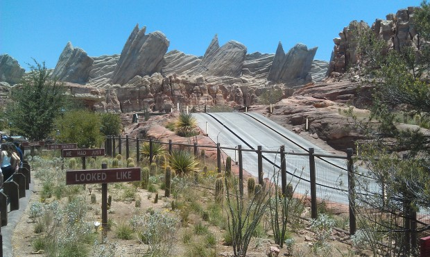 Arriving in #CarsLand the Racers appear to be down.