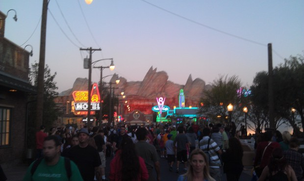 #CarsLand with the neon on.
