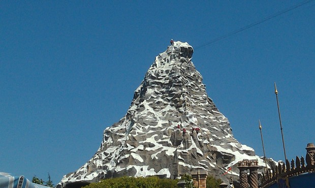 Climbers on the Matterhorn this afternoon.
