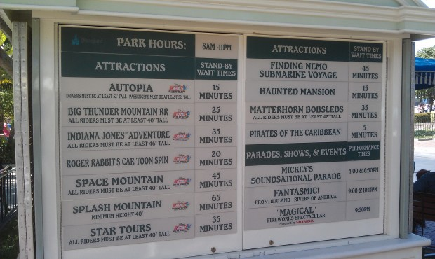 Current #Disneyland wait times as of 3:23pm