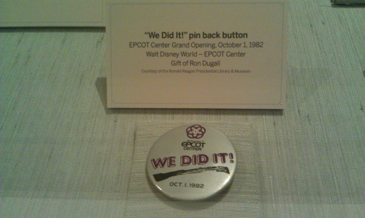 EPCOT We Did It button