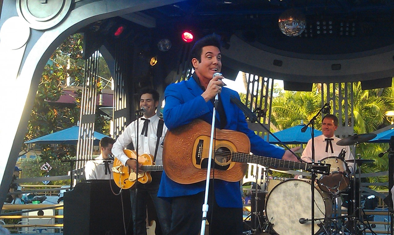 Elvis, Scot Bruce, is at the Tomorrowland Terrace this weekend.