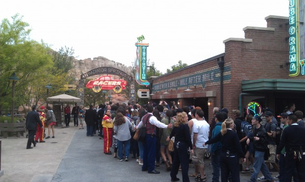 First guests head to Radiator Springs Racers