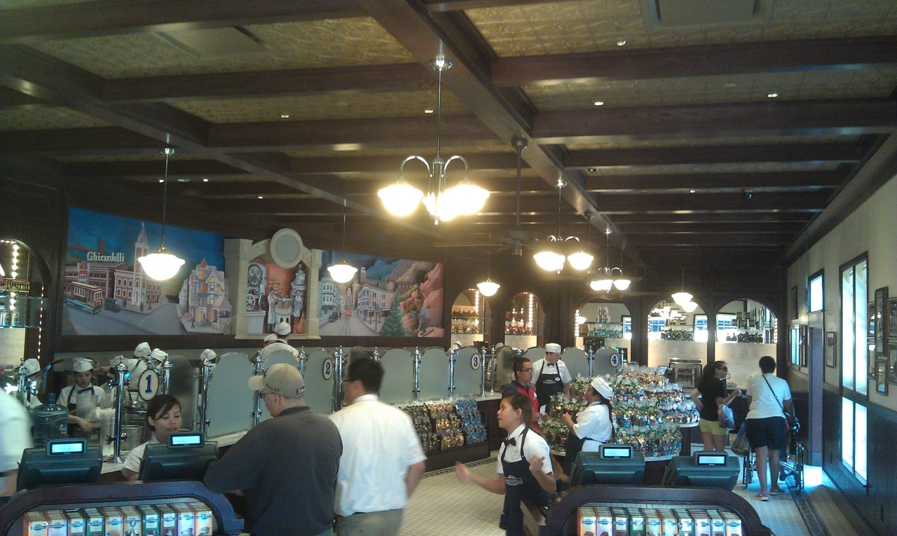 Ghirardelli is open today.  Grand opening is next Thursday.