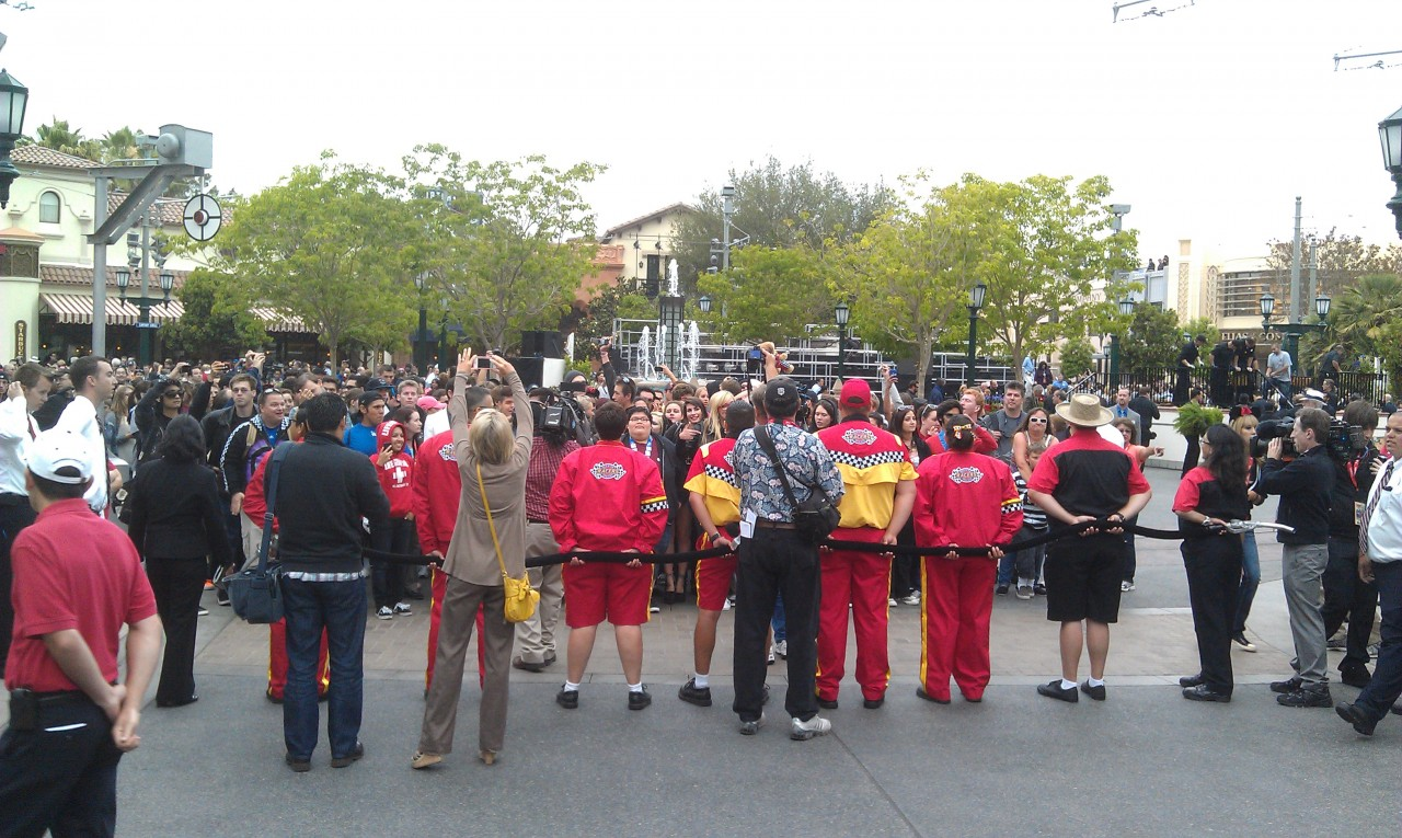 Going backwards a bit, the crowd in Carthay Circle